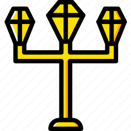 building, city, cityscape, light, street icon