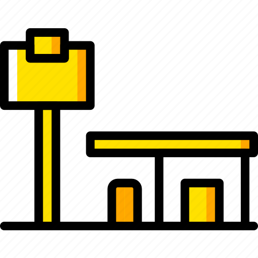 building, city, cityscape, gast, station icon