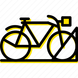 bicycle, building, city, cityscape, parking icon