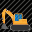 architecture, civil, construction, engineer, excavator icon