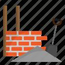 architecture, brickwall, civil, construction, engineer icon