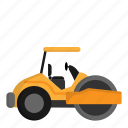 architecture, civil, construction, engineer, steamroller icon