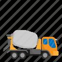 architecture, civil, concrete truck, construction, engineer icon