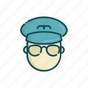 aviation, civil, line, pilot, thin icon