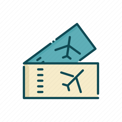 aviation, civil, line, plane, thin, tickets icon