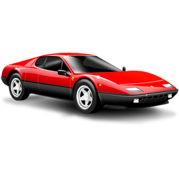 car, ferrari, red, small car, sports car icon