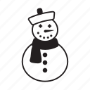 and, christmas, elements, pack, snowman, wbmte252, white icon