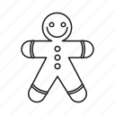 and, christmas, elements, gingerbread, pack, wbmte252, white icon