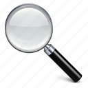 search, zoom, magnifying glass, out, view, in, magnifier, explore, find icon