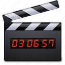 clapper, film, media, movie, multimedia, play, video icon
