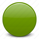 green ball, green circle, flag, basic