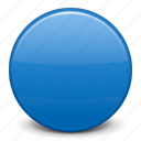 blue circle, flag icon
