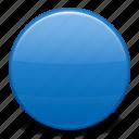 blue circle, flag