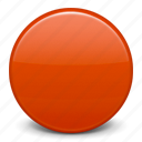 red circle, red ball, flag