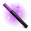 hat, magic wand, wizard icon