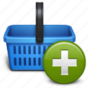 add, basket, business, buy, ecommerce, plus, sale, shop, shopping icon