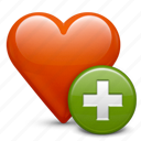 add, bookmark, favorite, favourite, heart, love, plus, star icon