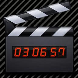 clapper, film, media, movie, multimedia, play, video icon