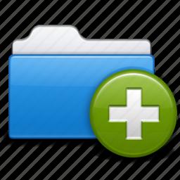 add, file, folder, new, open, plus icon