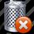 bin, can, delete, empty, recycle, remove, trash icon