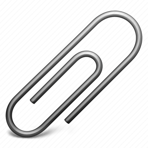 attach, attachment, clip, paperclip, staple icon