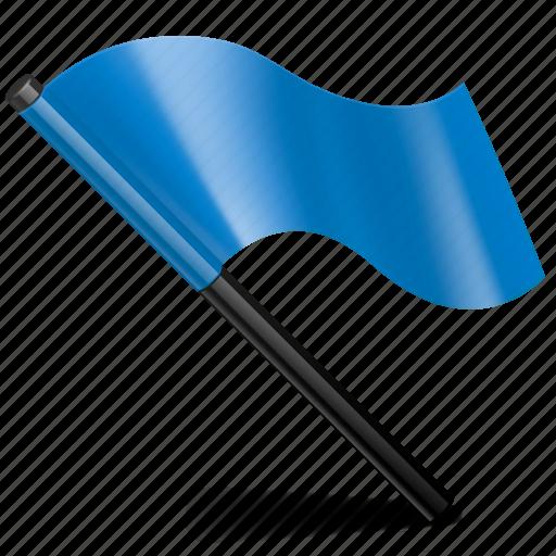 blue, flag, mark, tag icon