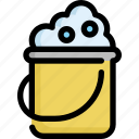 bucket, clean, cleaning, hygiene, laundry, wash, washing icon