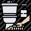bathroom, clean, flush, sanitary, toilet