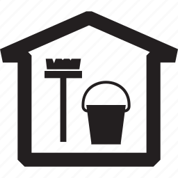 bucket, cleaning, house, mop, wash icon