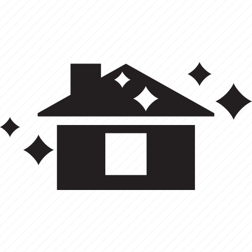 building, cleaning, home, house, shine, wash icon