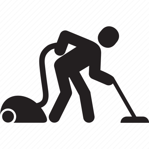 clean, cleaner, house, man, vacuum icon