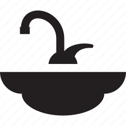 bath, bathroom, sink, tap, water icon