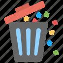 bin, dustbin, plastic bin, trash bin, waste container icon