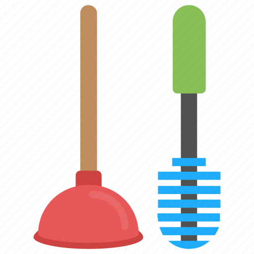 bathroom cleaning, bathroom service, cleaning tools, housekeeping, toilet cleaning icon