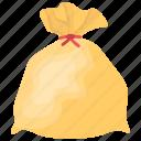 laundry bag, plastic bag, rubbish bag, trash sack, waste disposal icon