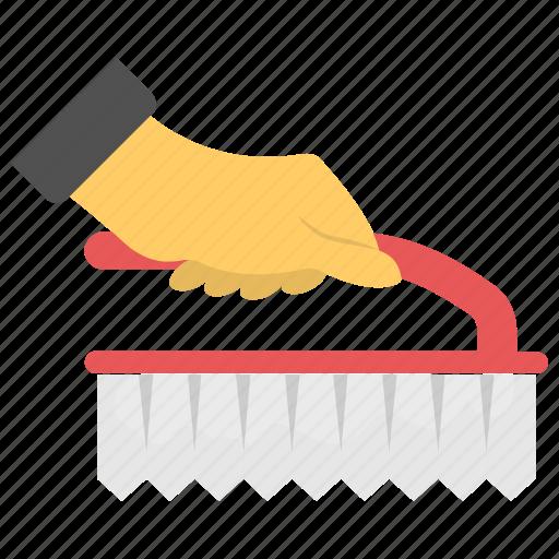 Carpet brush, carpet cleaning, cleaning tool, coat brush, handheld brush icon