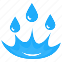 liquid splashing, spilling water, water droplets, water spill, water splash icon