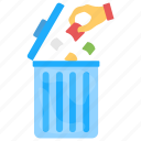 disposing trash, dustbin, garbage collection, garbage container, trash can icon