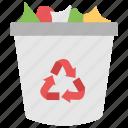 bin, disposal container, dustbin, recycle bin, trash bin icon