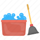cleaning tools, domestic cleaning, floor cleaning, home cleaning, housekeeping icon