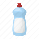 bottle, cleaner, white icon