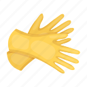 cleaning, gloves, hygiene, protection, rubber icon