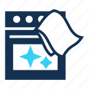 clean, cleaning, cooker, oven, polish, shine, stove icon