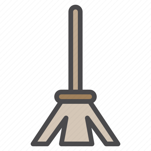 broom, cleaned, cleaning, equipment icon