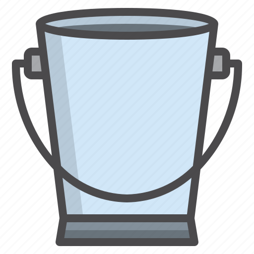 bucket, cleaned, cleaning, equipment icon
