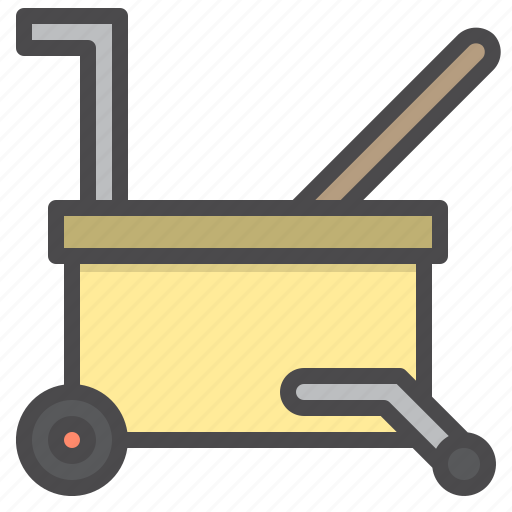bucket, cleaned, cleaning, equipment, water icon