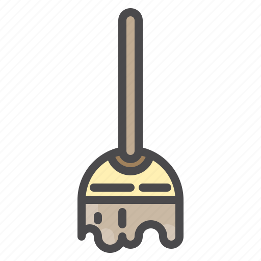 cleaned, cleaning, equipment, mop icon