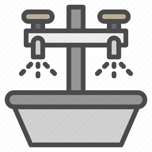 cleaned, cleaning, equipment, sink icon