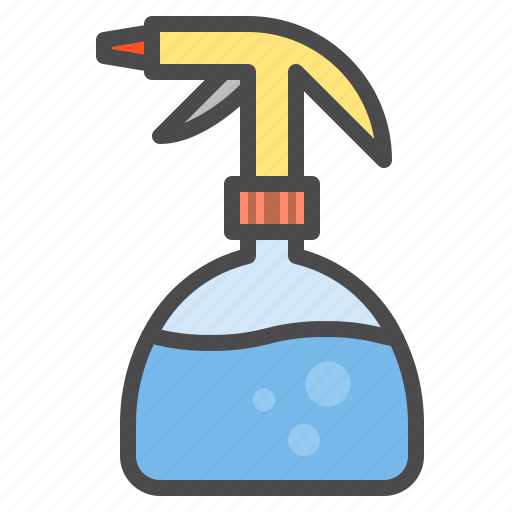 cleaned, cleaning, equipment, sprayer icon