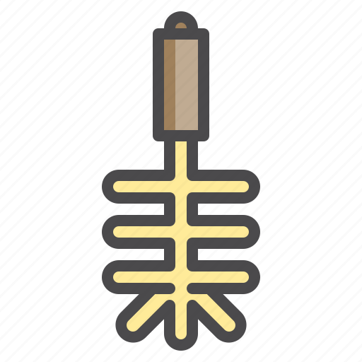 brush, cleaned, cleaning, equipment, toitet icon